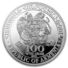 ARMENIE 100 Dram Argent 1/4 Once Arche de Noé 2019