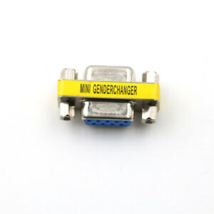 Serial RS-232 DB9 9 Pin Female to Female F/F Gender Changer Coupler Adap.w7