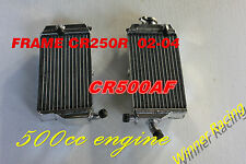"ALUMINUM RADIATOR HONDA CR500AF;FRAME CR250R 2002-2004 WITH ""CR500R 500 ENGINE"""