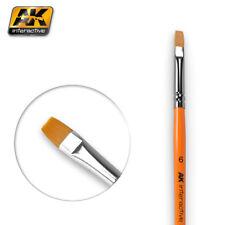 AK Interactive AK611 Pennello piatto misura 6 per la miscelazione, dissolvenza & Strisce
