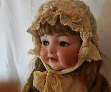 "32"" Antique Bisque Doll Flirty Toddler K*R Kammer & Reinhardt Simon Halbig 126"