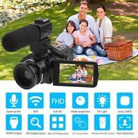 "ORDRO HDV-Z20 Digital Video Camera Full HD 1080P 24MP WiFi DV 3.0"" Touch screen"