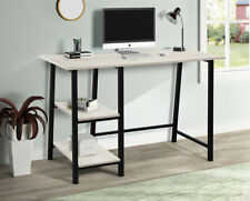 48 Home Office Desk Computer Table With Storage Shelves Wood Metal Desk Table