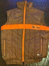 Vtg Cleveland Browns Stahl-Urban Football Hunting Vest Jacket Coat Womens Small