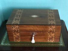 ANTIQUE TUNBRIDGE WARE JEWELLERY BOX