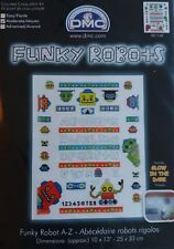 Funky Robots A-Z Cross Stitch Kit by DMC - Alphabet