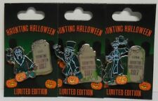 Disney Dlr Wdw Haunting Halloween 2017 The Haunted Mansion Set of 3 Pins Le3000