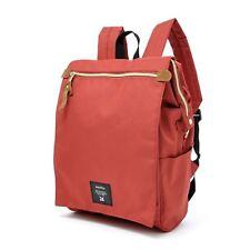Dark Orange Anello Japan Fashion Flip Cover Backpack Rucksack Diaper Travel Bag