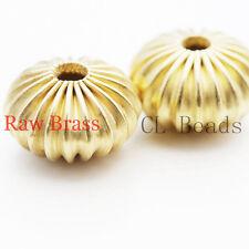 20 Pieces Raw Brass Bead Spacer - Saucer 12x7mm (1830C-U-33)