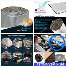 Aluminum 78''×40'' Useful Firewall Sound Deadener Car Heat Shield Insulation Mat