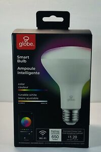 Globe Electric Wi-Fi Smart 10 Watt (65W Equivalent) Multicolor Changing RGB T...