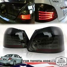 For 2007-12 Toyota Vios Yaris Sedan Belta Led Tail light Rear Lamp Smoke Color
