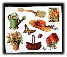 Vintage Grossman Gifted Line Victorian Butterfly Summer Garden Flowers Stickers
