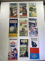 Vintage Road Maps Gulf Atlantic Sunoco Lot Of Nine (9)