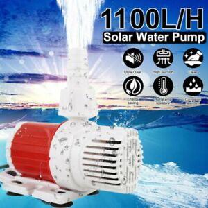 12V 20W Solarenergie Tauch Wasserpumpe Brunnenpumpe Gartenteich Pool 1100L/H