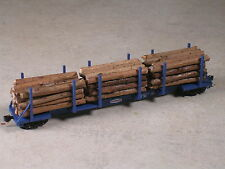 N Scale Custom realistic real wood log loads for Micro Trains Log Car. Type #2
