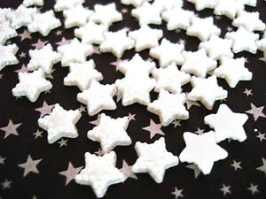 100 Flatback Pearly Star Craft Pearl Embellishment/Scrapbooking/decor/trim B163