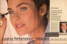 Carol Alt~Cover Girl`Lasting Performance Mascara` 1986 Print Ad (120713)