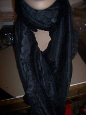 Charter Club Reversible Fringed Scarf Wrap Shawl NF10RWBLK Black $38 72""