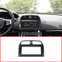 Carbon Fiber Car Navigation Screen Frame Trim For Jaguar XE XEL F-Pace  X761