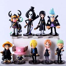 9pcs/set One Piece anime strong world monkey d luffy chopper figure doll Toys