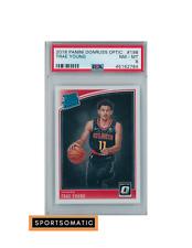 2018 Optic Trae Young RC #198 Rookie Card PSA MINT 8  - NBA, Atlanta Hawks