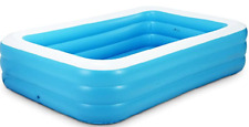 Inflatable pool, children's home use, large size square pool 180x140x60 cm