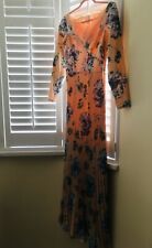 ASOS maxi Eid modest petite pleated floral dress size 8 pink blush new wedding