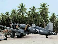 COLORWWII Photo F4U Corsair VF-17 Nissan Island 1944  WW2 World War Two / 5123