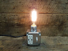SteamPunk Industrial USB Table Desk Lamp with 2 USB Charger Outlets
