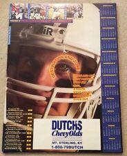 1997 Kentucky Wildcats Football Poster Tim Couch Craig Yeast