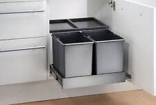 Wesco Abfallsammler 2x15L Automatik Double Shorty plus Einbau-Abfalleimer