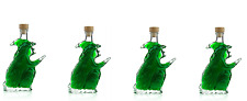 4x Empty WITCH Shaped Glass Bottles 8 Inches Tall Halloween Novelty 200ml