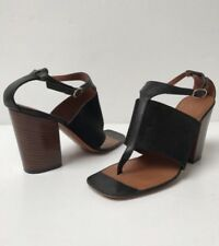 Celine Crosta Black Calf 39  T Strap Sandals Original Box Dustbags