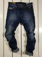 New Diesel Men's Jeans Tepphar 0860L Slim Carrot Stretch Blue Christmas Holiday