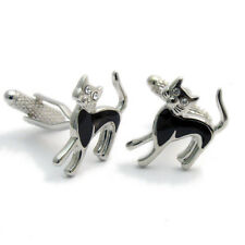 Black Cat Cufflinks by Onyx-Art New Gift Boxed CK592