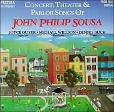 CONCERT, THEATER & PARLOR SONGS OF JOHN PHILIP SOUSA NEW CD