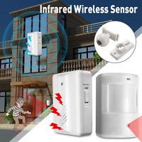 Wireless Motion Sensor Detector Door Entry Bell Alarm + Receivers Secure System