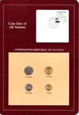 Guyana Coin Sets of All Nations 4 BU Coins 1982 & 1985
