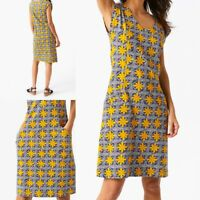 NEW RRP £55 Ex White Stuff Lena Fairtrade Dress In Cape Blue Print