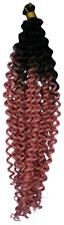 Deep Water Crochet Braids - zweifarbig  lachs rosa & schwarz