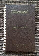VERY RARE VINTAGE 1945 The Indiana Farmers Guide Cook Book, Spiral Bound