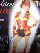 HALLOWEEN COSTUME 5 ALARM FIRE WOMAN FIREMAN ADULT MEDIUM/LARGE 8-12 COSTUMANIA