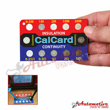 CalCard Resistance Checkbox Insulation/Continuity Tester Checker Calibration