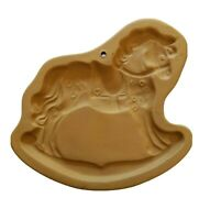 Ceramic Carousal Rocking Horse Brown Bag Cookie Art 1986 Hill Design Mold Xmas