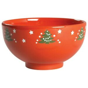 vintage Waechtersbach coupe cereal bowl Christmas tree pattern