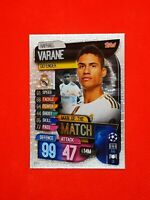 Carte card panini topps match attax 2019 2020 champions league RAPHAEL VARANE