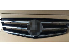 For 08-14 Mercedes Benz C-Class w204 Grille Grill Black AMG Style Sliver Logo