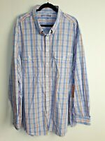 R M Williams NWT Men's Beerwah Long Sleeve Button Up Shirt Check Size 4XB
