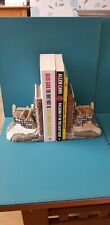 BOOKENDS THATCHED TUDOR HOUSES VERY HEAVY EXCELLENT CONDITION